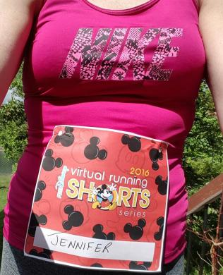 Earning my runDisney Virtual Running Shorts medals 2016