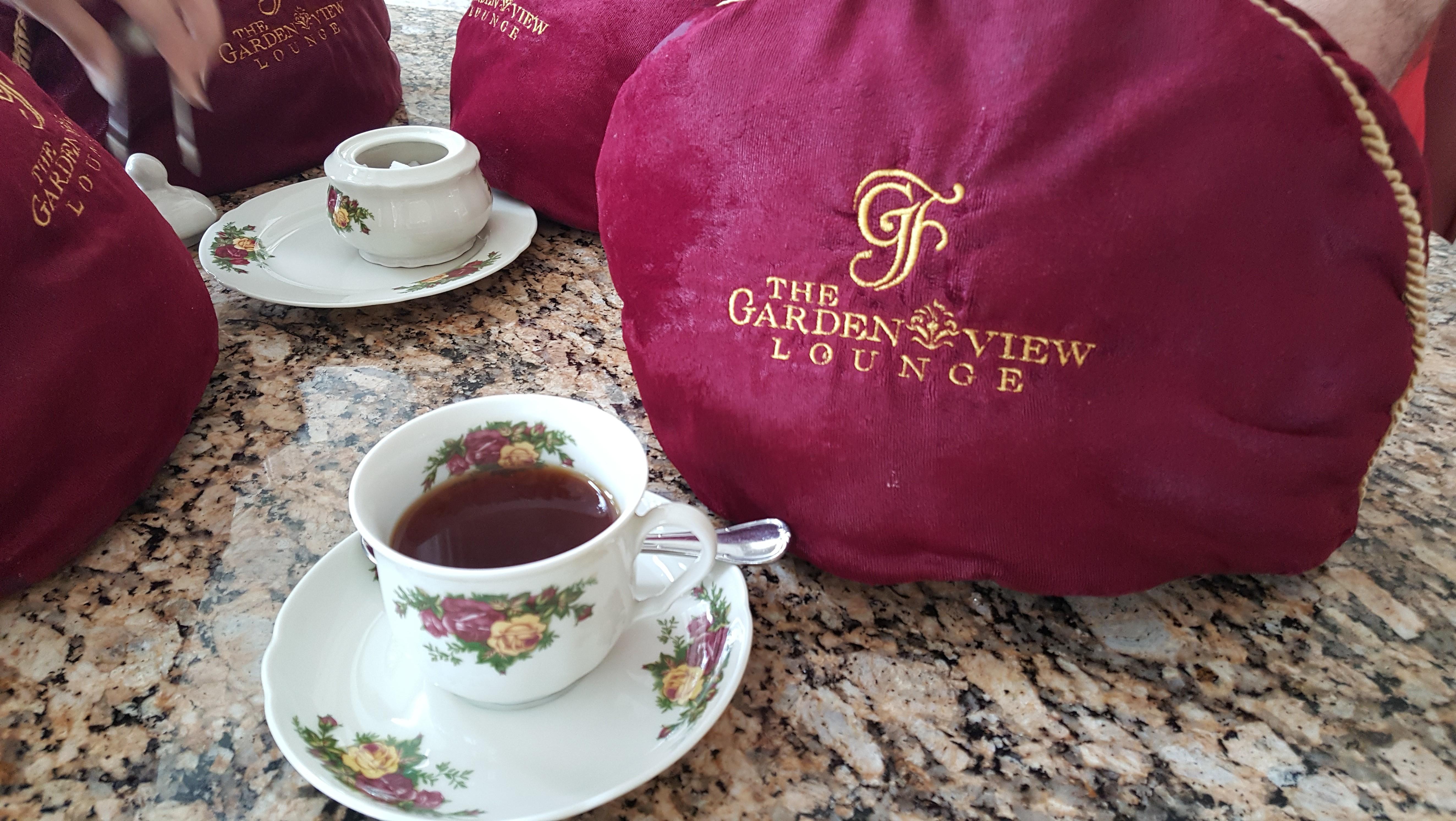Garden View Tea Room tea pot and cover